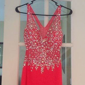 Prom dress worn 1 time like new (coral)